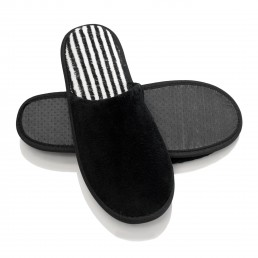 H2O LUXURY BLACK SLIPPERS CLOSED-TOE