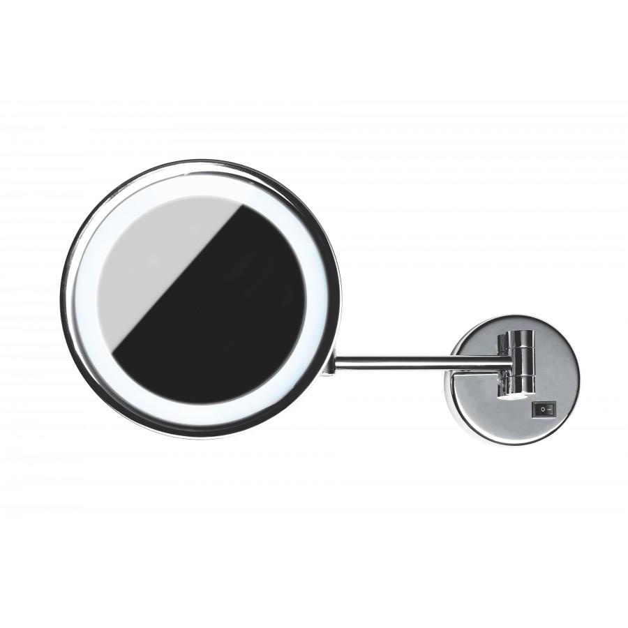 miroir de courtoisie rond avec led. Black Bedroom Furniture Sets. Home Design Ideas