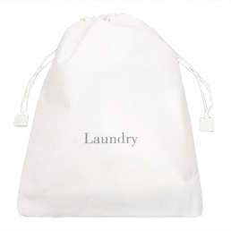 NON-WOVEN LAUNDRY BAG WHITE