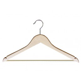 WOODEN HANGER WITH HOOK&BAR