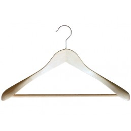 WOOD HANGER EXTRA WIDTH WITH HOOK & BAR