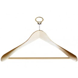 ANTI-THEFT BEECH WOOD HANGER EXTRA WIDTH AND RING