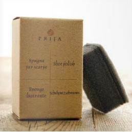 Shoeshine sponge in paper box
