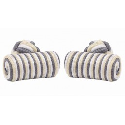 Three colors silk knot Log Cufflinks