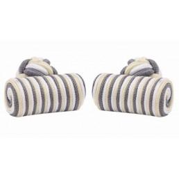 Drie-kleurige manchetknopen in zijde